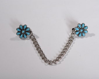Vintage 1950s Sweater Clip Guard - 1960s Turquoise - Southwestern Fashions