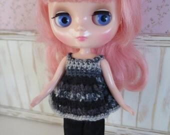 Middie Blythe Crochet Top & Cord Pants Set