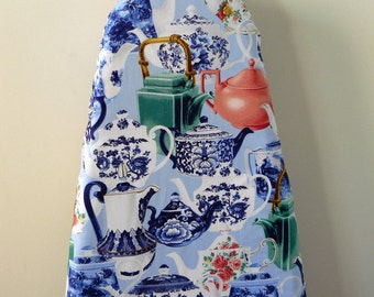 Ironing Board Cover - fine china tea cups and teapots
