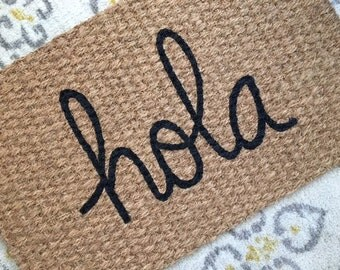 Hola Welcome Mat - Witty and Fun doormats for fun people!