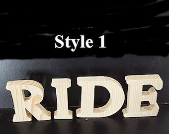 Pkg of 3 Unfinished Stand Alone Wood Letters Style 1 for Brittany