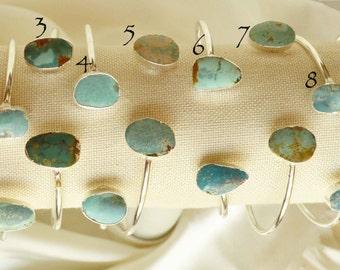 adjustable turquoise bangle bracelet, turquoise silver bangle bracelet, silver and turquoise bracelet, turquoise bracelet boho cuff bracelet