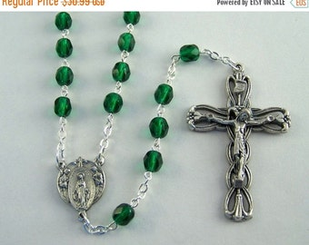 15% OFF SALE May Birthstone Rosary