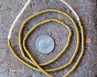 African Brass Spacer Beads (3x1mm)