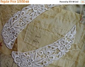 """3DAY SALE 24 pieces 9"""" length White Floral Venise lace collars in 12 sets"""