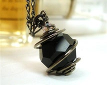 Black Necklace Unique Gifts for Wife Gothic Jewelry Wiccan Jewelry Gifts for Teen Girls Victorian Mourning