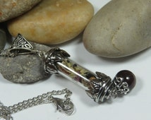 Spell Capsule Pendant to Remove Obstacles and Negative Energy,Witchcraft, Luck Enhancer, Magick Banishing Pendant,Witch