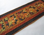 Fall Table Runner, Handmade Quilted Table Runner, Cornucopia, Harvest, Autumn, Table Decor, Home Decor, Tablerunner