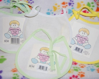 Baby Bibs - A set of 10 Sizes and Colors... All New and Never Used