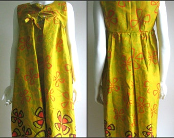 60s 70s vintage hawaiian dress