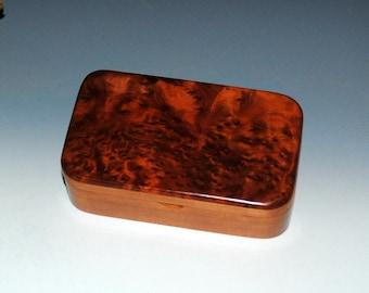 Redwood Burl on Cherry Wood Treasure Box- Gift Box, Wood Jewelry Box, Wood Keepsake Box, Wooden Jewelry Box, Wooden Stash Box,Small Wood Box