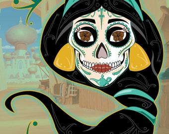 Jasmine Sugar Skull 11x14 print