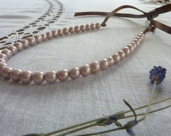Mat filolet pearl necklace Wedding pearl