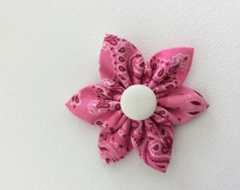 Pink Dog Collar Flower- Ready to Ship