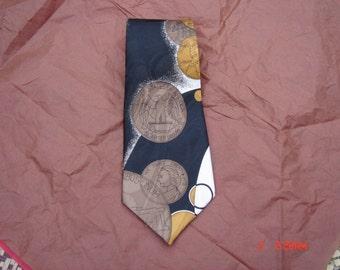 Vintage Silk U.S. Coin Necktie - Unique