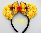Inspired Belle for Beauty and the Beast Rose Mouse Ears