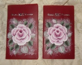 Susan's Custom Ordered Victorian Chic 2017 Hand Painted Pink Rose Weekly Planners
