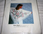Candamar/Something Special - Roses Shawl (on afghan cloth) counted cross stitch