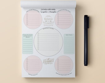 Daily Negative Thoughts Organizer Notepad