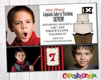 Pirate Invitations Boy Birthday Party