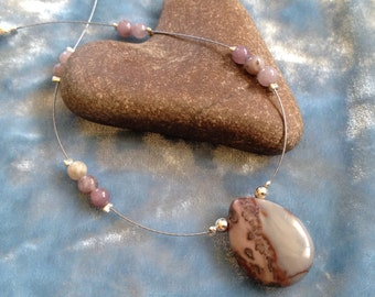 Picture Jasper Illusion Necklace