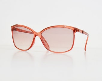 Vintage 70s Boho Clear Pink Sunglasses Shades