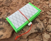 IPhone 6 Compatible Jersey Pocket Wallet - White X-Pac with Hi-Viz Green Trim