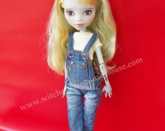 Special Dis 20% Smooth denim Overalls for Monster high & Ever after high