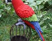 Amigurumi Red-and-Green Macaw/Parrot- crochet pattern, PDF (Deutsch, English,  Nederlands)