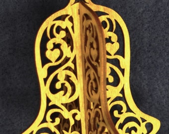 3-D Single Bell Ornament