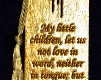 Wood Scripture Bookmark - John 3:18