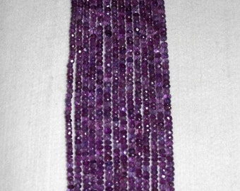 Amethyst, Amethyst Rondelle, Faceted Rondelle, Purple Rondelle, Semi Precious, Gemstone Bead, Natural Amethyst, Strand, 5mm, AdrianasBeads