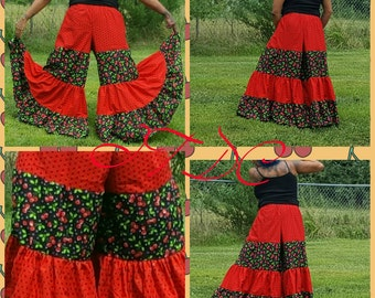 Cherries Jubilee 10yd Tiered Pantaloons