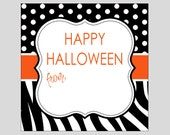 Zebra Happy Halloween Gift Tags ~ INSTANT DOWNLOAD ~ printable gift favor tags