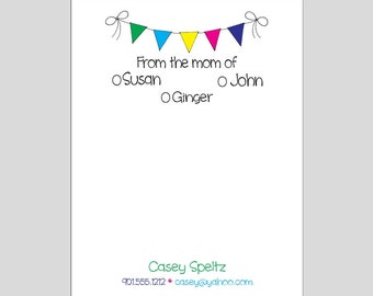 Personalized From the Mom of Notepad ~ Stationery ~ 3 Sizes of Notepads