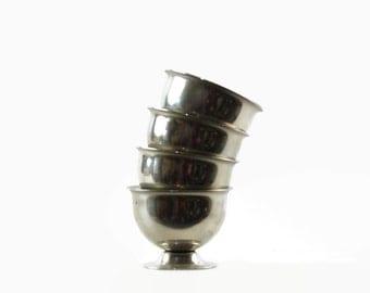 Stainless Steel Egg Cups, Polaris, Norway, Danish Modern, Mid Century Kitchen