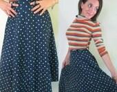 1950s Polka Dot Swing Circle Skirt // Lampl Fashion