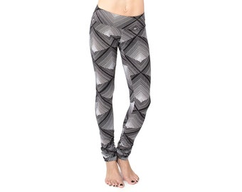 Extra Long Leggings - Tall Women Pants - Organic Yoga Pants - Patterned Leggings - Extra Long Leggings