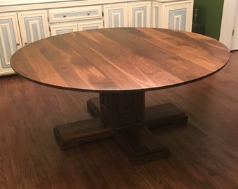 Walnut Dining Table, Round Dining Table,