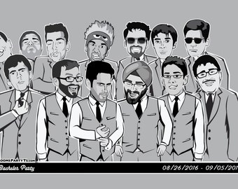 Caricature T-Shirts of your Groomsmen or Bachelor Party!