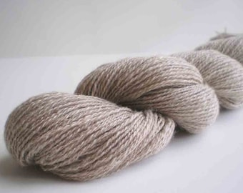 264 Yds. Handspun 50/50 Vermont Grown Cashmere and Silk Lace Yarn