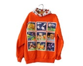 BLOWOUT 40% off sale Vintage 80s Halloween Sweatshirt - Boys Girls Size 7 8 - novelty, Land n Sea, Made in USA