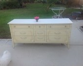 FAUX BAMBOO THOMASVILLE Dresser Faux Bamboo Fretwork Dresser / Faux Bamboo Credenza/ Server #2 (2 available) at Retro Daisy Girl