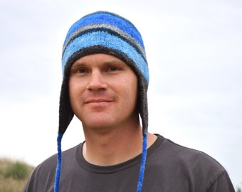 Knitted Felted Earflap Hat Pattern for Men, Women or Children