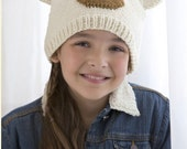 Knitting Pattern Polar Bear Hat Instant Download PDF Pattern Easy Pattern Knit Animal Hat
