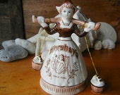 Hershey's Dutch Girl Figurine Bell With Bucket Clappers Trade Mark advertising collectible hersheys chocolate