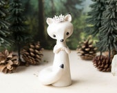 Arctic Fox Queen Figurine by Bonjour Poupette