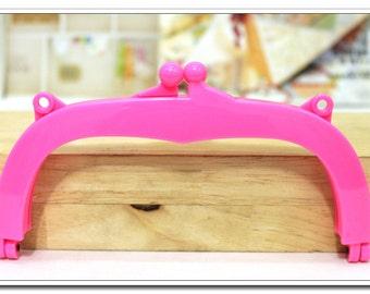 "7 inch Purse Frame,Jelly Clip,18 cm, bag frame,handbag frame, plastic acrylic resin closure, 7"",4 color"