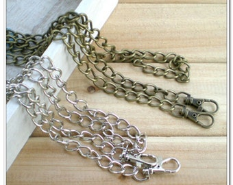 """120cm purse chain with lobsters, bag chains, handbag chains,nickel finish, 48 inch,48"""""""
