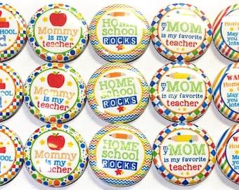 "Homeschool 1"" Buttons  Homeschool Pins, Homeschool Hair Clips, Homeschool Buttons, Homeschool Pinbacks, Homeschool Flatbacks, Homeschooler"